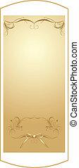 dekorativ, goldener hintergrund