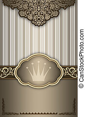 dekorativ, hintergrund, frame., elegant