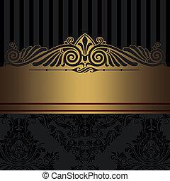 dekorativ hintergrund schwarz gold gold weinlese bilder fotografien und foto clipart. Black Bedroom Furniture Sets. Home Design Ideas
