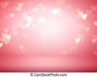 dekorativ, hjärta, bakgrund