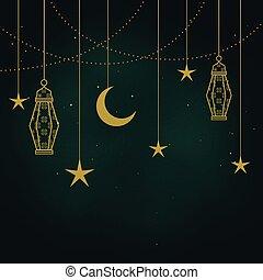 dekorativ, islamisch, elemente, hintergrund