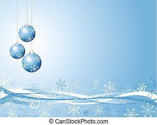 dekorativ, jul, bakgrund