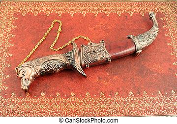 dekorativ, kniv