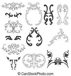 dekorativ konstruktion, elementer