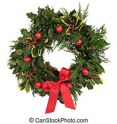 dekorativ, kranz, weihnachten