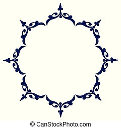 dekorativ, kreis, design