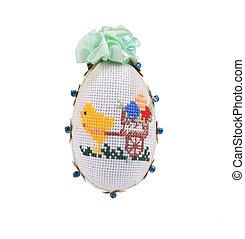 dekorativ, påsk, egg.