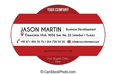 dekorativ, röd, affär, card.