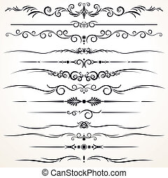 dekorativ, regieren, linien, in, verschieden, design