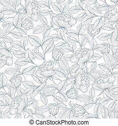 dekorativ, ro, trädgård engelsk