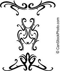dekorativ, stammes-, design