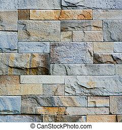 dekorativ, steinmauer, muster, schiefer, oberfläche