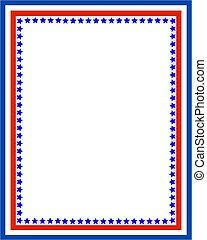 dekorativ, symbols., usa, amerikanische markierung,...