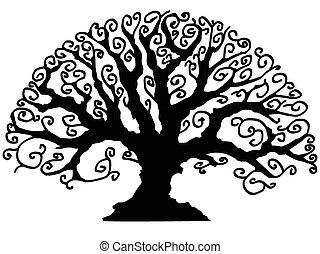 dekorativ, träd