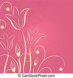 dekorativ, tulpen, blumen, hintergrund