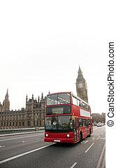 dekorator, podwójny, ben, cielna, autobus