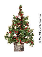 dekoriert, miniweihnachtsbaum