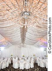 dekoriert, wedding, halle