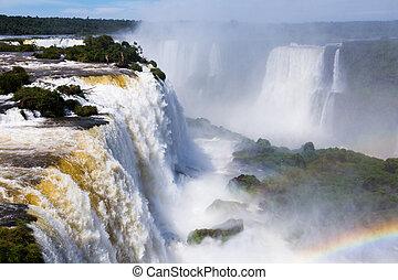 del, 川, ブラジル, iguazu, 滝, cataratas