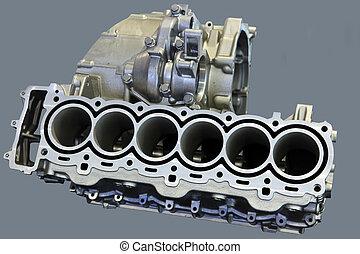 del av, bil motor