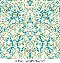 del este medio, inspirado, seamless, azulejo, diseño