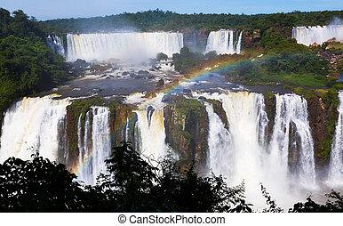 del, iguazu, 川, cataratas, ブラジル, 滝