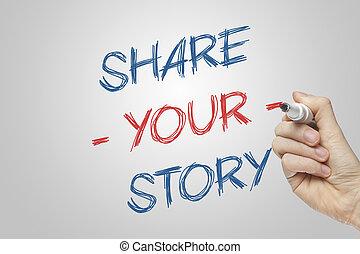 dela, din, berättelse