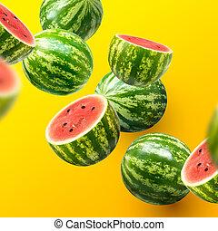 delad, vattenmeloner