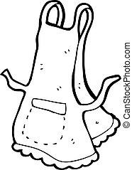 delantal, caricatura
