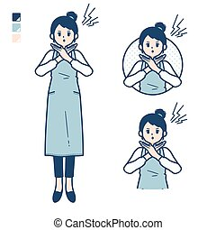 delantal, simple, woman_cross-with-arms