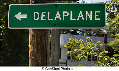 delaplane, virginia, út cégtábla