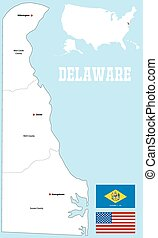 Delaware county map - A large and detailed map of the State ...