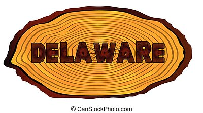 Delaware Log Sign
