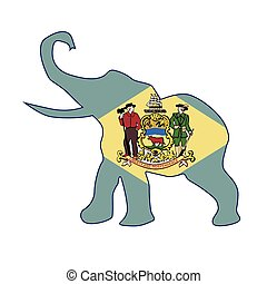 Delaware Republican Elephant Flag