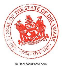 Delaware Seal Stamp