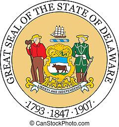 Delaware seal - Various vector flags, state symbols, emblems...