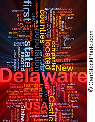 Delaware state background concept glowing - Background...