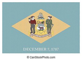 Delaware State Flag White Dots