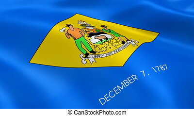 Delawarean flag in the wind