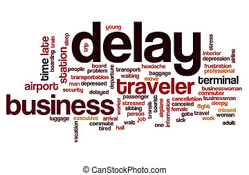Delay word cloud concept - Delay word cloud