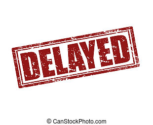 Delayed-stamp - Grunge rubber stamp with word Delayed,vector...