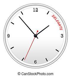 delegado, tiempo