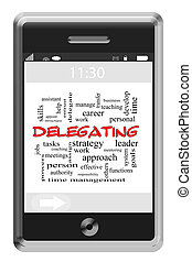 Delegating Word Cloud Concept on Touchscreen Phone