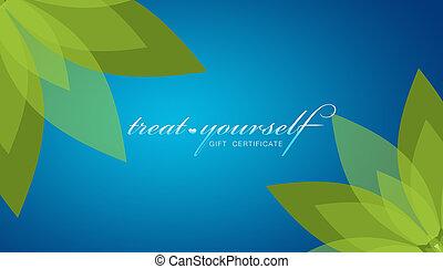 deleite, certificado, -, presente, você mesmo