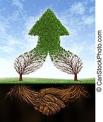 delen, groei, zakelijk