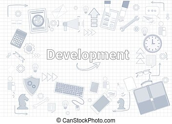 Delepoment Business Strategy Financial Growth Startup Plan Banner