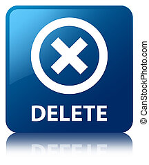 Delete blue square button