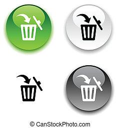 Delete button. - Delete glossy round vector buttons.