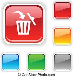 Delete  button. - Delete  square button. Used blends.
