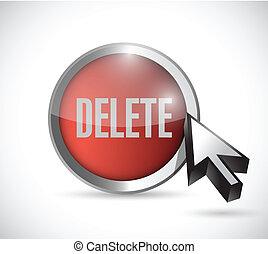 delete button illustration design